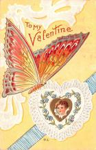 dam002233 - Valentines Day Post Card Old Vintage Antique Postcard