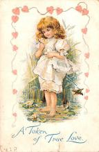 dam002235 - Valentines Day Post Card Old Vintage Antique Postcard