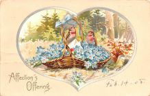 dam002239 - Valentines Day Post Card Old Vintage Antique Postcard
