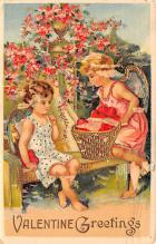 dam002243 - Valentines Day Post Card Old Vintage Antique Postcard