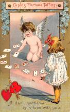 dam002245 - Valentines Day Post Card Old Vintage Antique Postcard