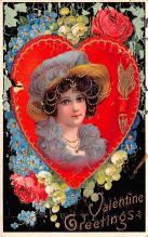 dam002247 - Valentines Day Post Card Old Vintage Antique Postcard