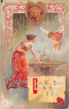 dam002249 - Valentines Day Post Card Old Vintage Antique Postcard
