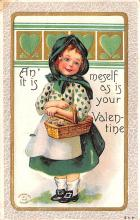 dam002253 - Valentines Day Post Card Old Vintage Antique Postcard