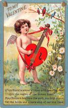 dam002255 - Valentines Day Post Card Old Vintage Antique Postcard