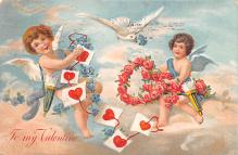 dam002261 - Valentines Day Post Card Old Vintage Antique Postcard