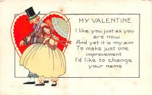 dam002271 - Valentines Day Post Card Old Vintage Antique Postcard
