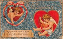 dam002277 - Valentines Day Post Card Old Vintage Antique Postcard