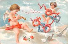 dam002279 - Valentines Day Post Card Old Vintage Antique Postcard
