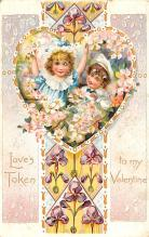 dam002285 - Valentines Day Post Card Old Vintage Antique Postcard