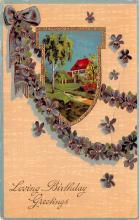 dam002289 - Valentines Day Post Card Old Vintage Antique Postcard