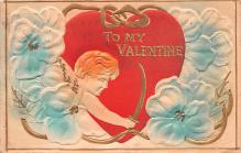 dam002311 - Valentines Day Post Card Old Vintage Antique Postcard