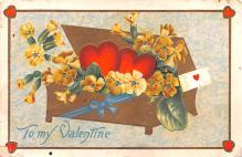 dam002321 - Valentines Day Post Card Old Vintage Antique Postcard