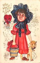 dam002323 - Valentines Day Post Card Old Vintage Antique Postcard