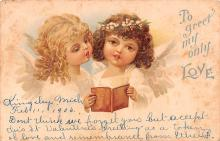 dam002327 - Valentines Day Post Card Old Vintage Antique Postcard