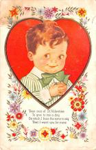 dam002331 - Valentines Day Post Card Old Vintage Antique Postcard