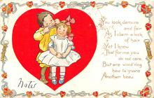 dam002345 - Valentines Day Post Card Old Vintage Antique Postcard