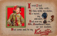 dam002371 - Valentines Day Post Card Old Vintage Antique Postcard