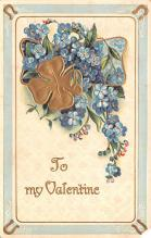 dam002377 - Valentines Day Post Card Old Vintage Antique Postcard