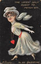 dam002383 - Valentines Day Post Card Old Vintage Antique Postcard