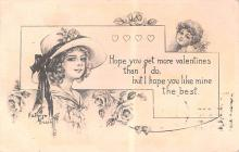 dam002397 - Valentines Day Post Card Old Vintage Antique Postcard