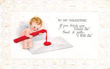 dam002403 - Valentines Day Post Card Old Vintage Antique Postcard
