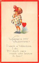 dam002405 - Valentines Day Post Card Old Vintage Antique Postcard