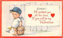 dam002407 - Valentines Day Post Card Old Vintage Antique Postcard