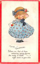 dam002409 - Valentines Day Post Card Old Vintage Antique Postcard