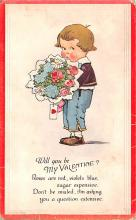 dam002411 - Valentines Day Post Card Old Vintage Antique Postcard