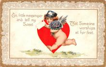 dam002419 - Valentines Day Post Card Old Vintage Antique Postcard