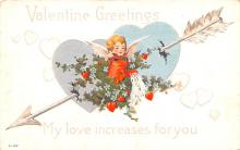 dam002423 - Valentines Day Post Card Old Vintage Antique Postcard