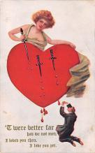 dam002437 - Valentines Day Post Card Old Vintage Antique Postcard