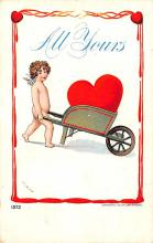 dam002445 - Valentines Day Post Card Old Vintage Antique Postcard