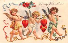 dam002447 - Valentines Day Post Card Old Vintage Antique Postcard