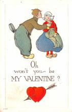 dam002449 - Valentines Day Post Card Old Vintage Antique Postcard