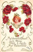 dam300051 - Damaged Valentines Day Postcard