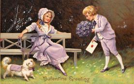 dam300057 - Damaged Valentines Day Postcard