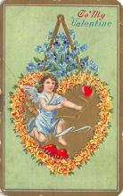 dam300065 - Damaged Valentines Day Postcard