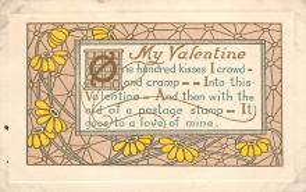 dam300069 - Damaged Valentines Day Postcard