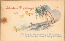 dam300093 - Damaged Valentines Day Postcard