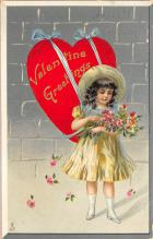 dam300199 - Damaged Valentines Day Postcard