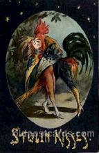 dan001002 - Dressed Rooster Postcard Post Card