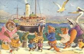 dan002135 - Racey Helps Post Card, Artist Signed Post Card Old Vintage Antique, PK 383