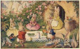 dan002167 - Golliwogg, Racey Helps Post Card, Artist Signed Post Card Old Vintage Antique, PK 221