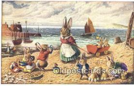 dan002170 - Golliwogg, Racey Helps Post Card, Artist Signed Post Card Old Vintage Antique, PK 238