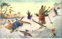 dan002186 - Racey Helps Post Card, Artist Signed Post Card Old Vintage Antique, PK 220
