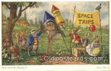dan002248 - Racey Helps Post Card, Artist Signed Post Card Old Vintage Antique, PK 278