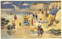 dan002263 - Racey Helps Post Card, Artist Signed Post Card Old Vintage Antique, PK 300