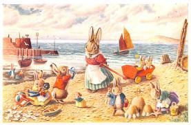 dan002348 - Dressed Animals Post Card